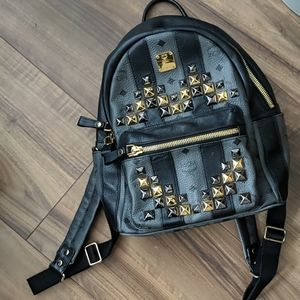 AUTHENTIC MCM Mini Studded Backpack